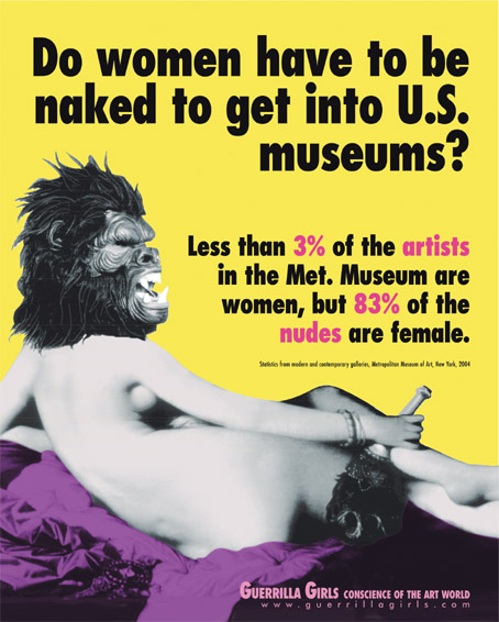 A Guerilla Girls poster challenging the place of women artists in the art world.