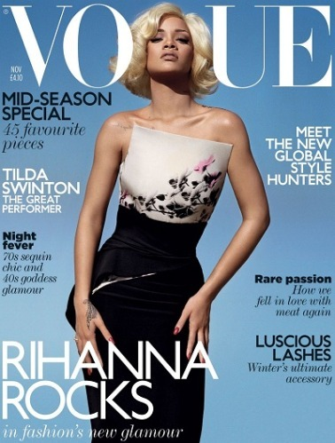 Debate erupted about whether Rihanna had been airbrushed to appear whiter on the November 2011 cover of British Vogue magazine.